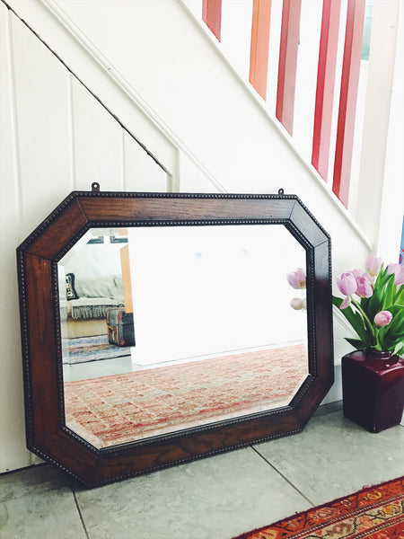 Large Victorian Mirror with bevelled glass