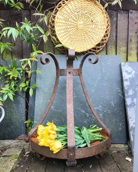 Vintage French Wall-Mounted Iron Planter or Shelf