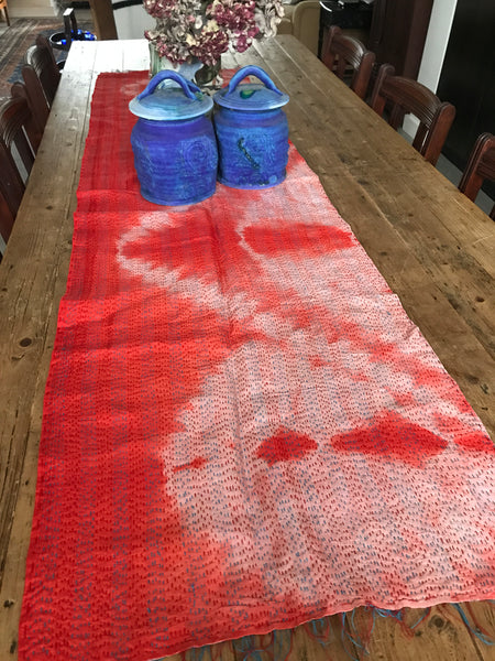 Antique Sari Table Runner or Throw