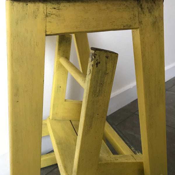 Vintage Painted Folding Step-Ladder
