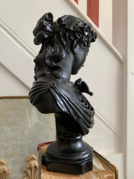 Black Lacquered Resin Bust