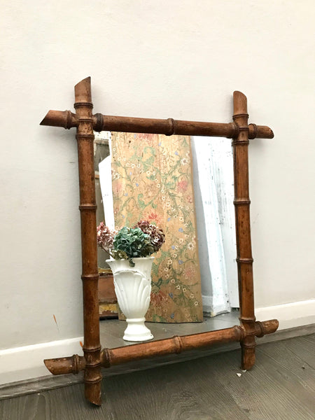 Beautiful French Faux bamboo mirror