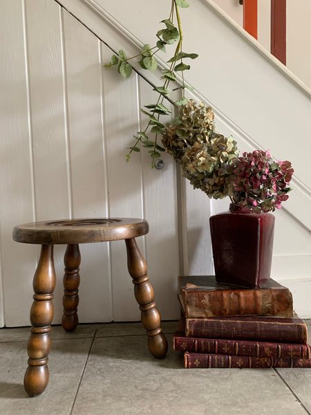 French Vintage Milking Stool 3