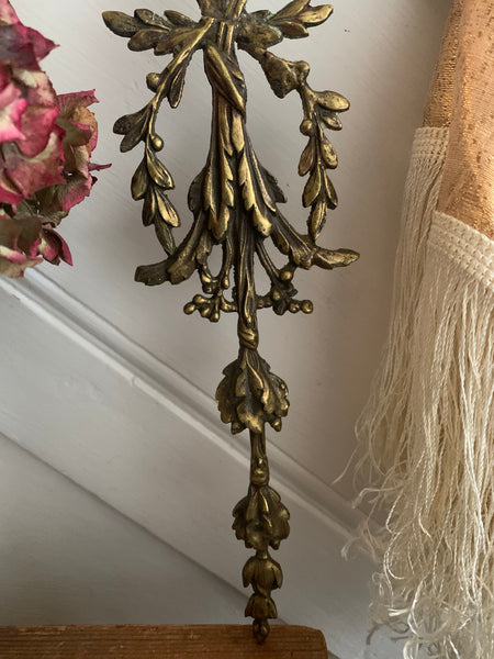 Antique French Bronze Ormolu Pediment