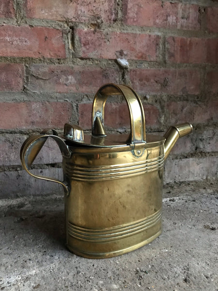 Small Antique Brass Watering Can/Hot Water Carrier