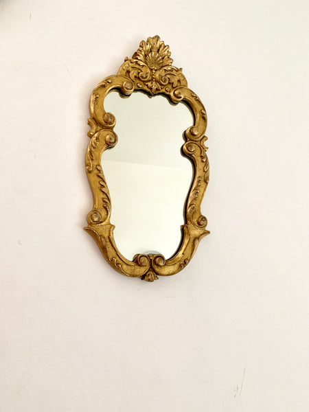 Small French Vintage Rococo Style Mirror