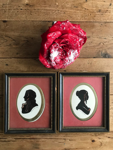 Pair of mini Victorian Silhouettes