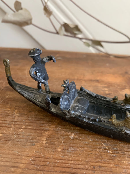 Teeny metal decorative gondola
