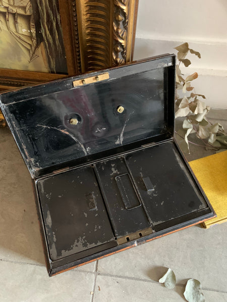 Antique Metal Cash Box