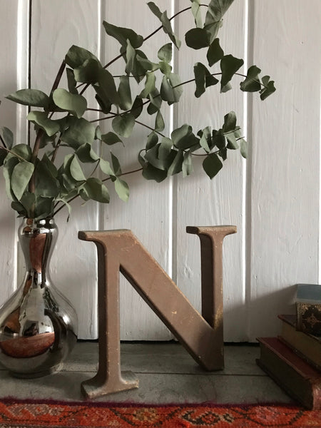 "Rustic Stand-Alone Letter ""N"""