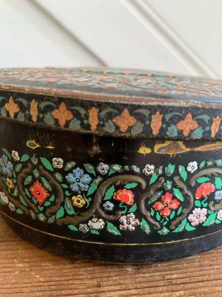 Huntley and Palmers Tin with Embossed Flowers