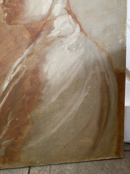 Portrait In Neutral Hues-  Oil on Canvas