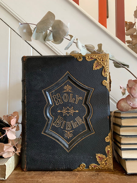 1800s Large Antique Family Bible