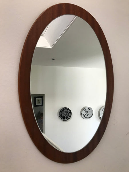 Pair of Teak Retro Mirrors