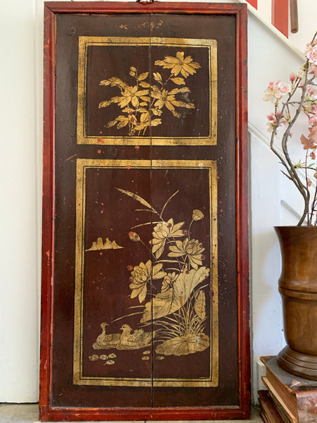 Old Chinese Decorative Wood Panel