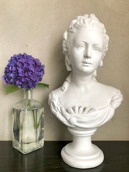 French Bisque Porcelain Bust