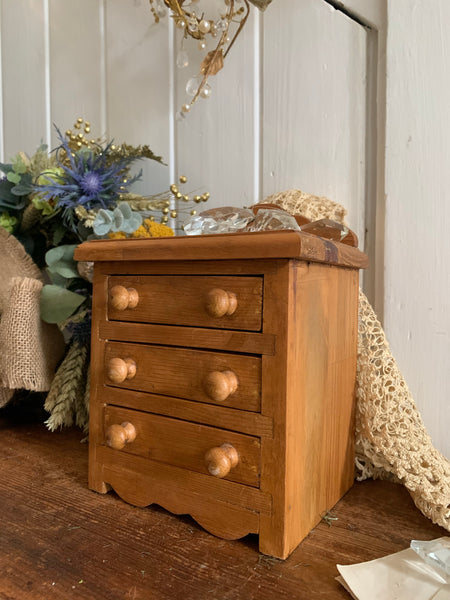 Miniature Vintage Pine Chest of Drawers