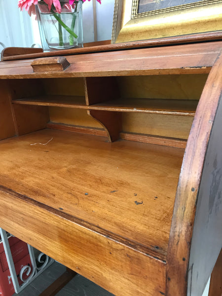Small Vintage Roll-top Desk