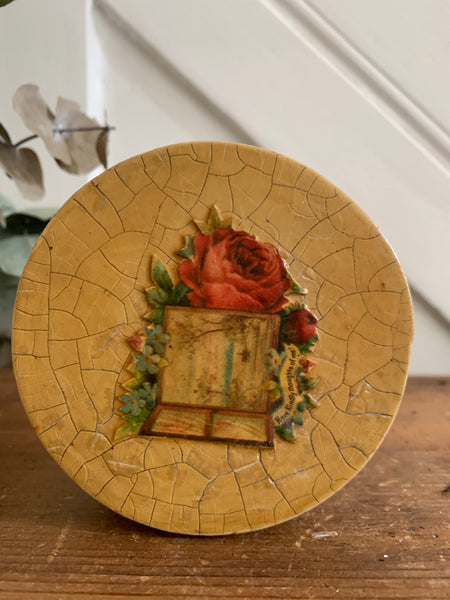 Teeny Decoupage Box with floral detail