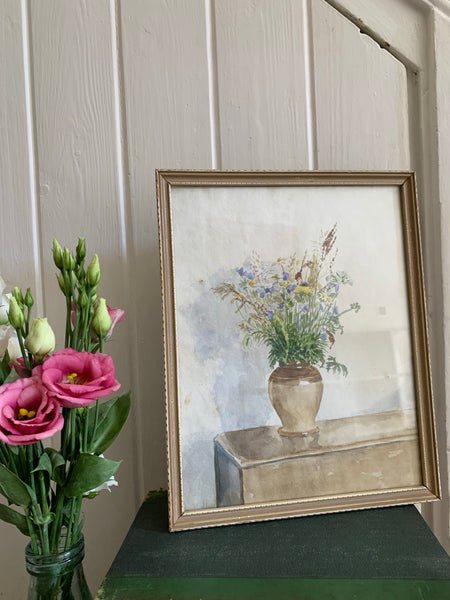 Small Framed Floral Watercolour