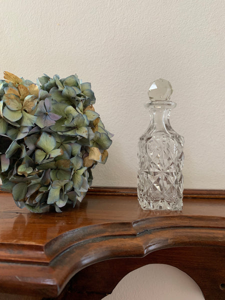 Small Victorian Cut-Glass Perfume Bottle/Decanter