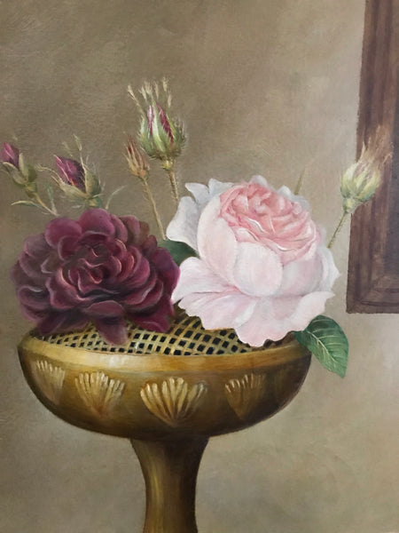 Vintage Still-Life Oil Painting