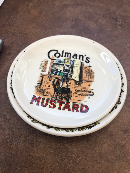 Pair of Vintage Colmans Mustard Mini Dishes