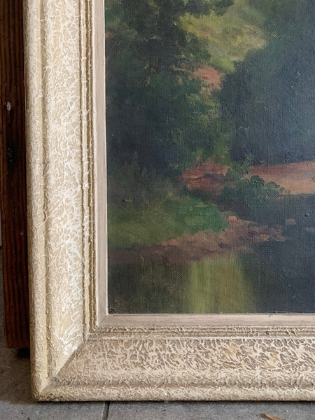 Antique Oil Landscape