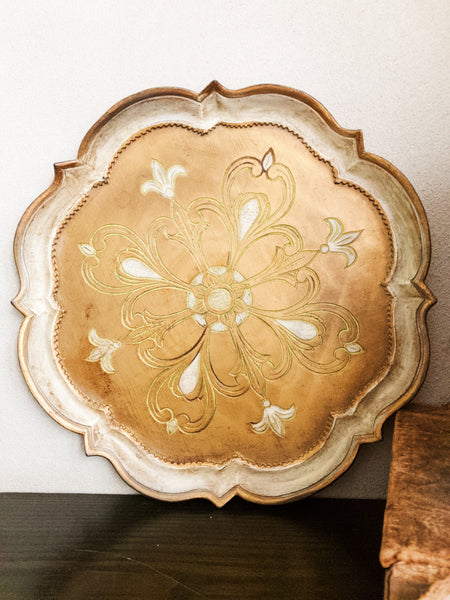 Gold Florentine Gilt Tray