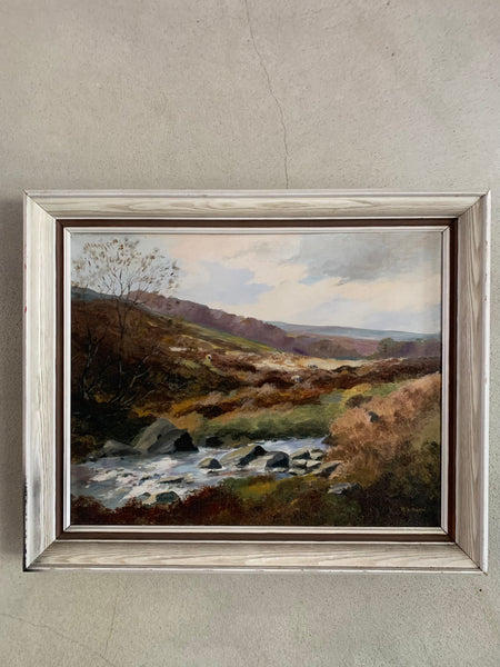 Moody Landscape:  Signed Oil on Canvas