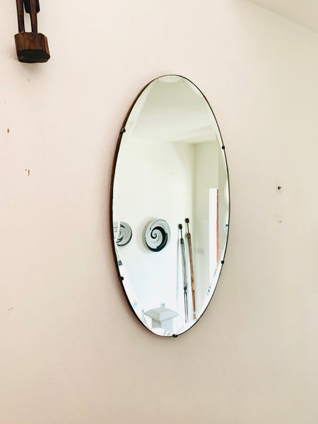 Beautiful Large Oval Art Deco Mirror