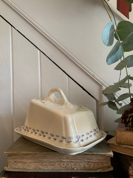 Antique Ceramic Cheese/Butter Dish with lid