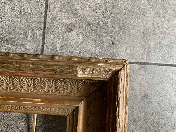 Small rustic gilt frame