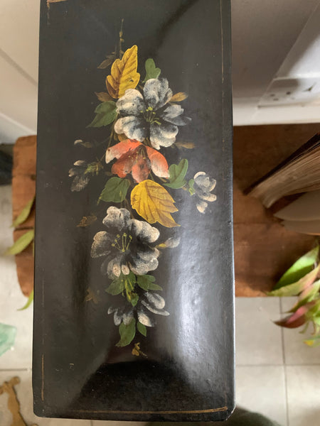 Antique Hand- Painted Cabinet Box
