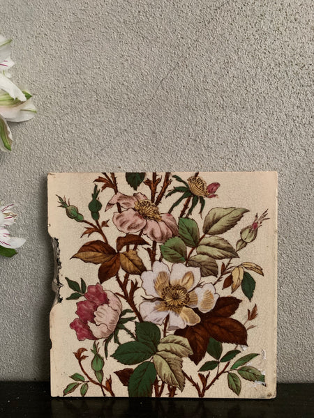 Antique Victorian Pottery Tile 2