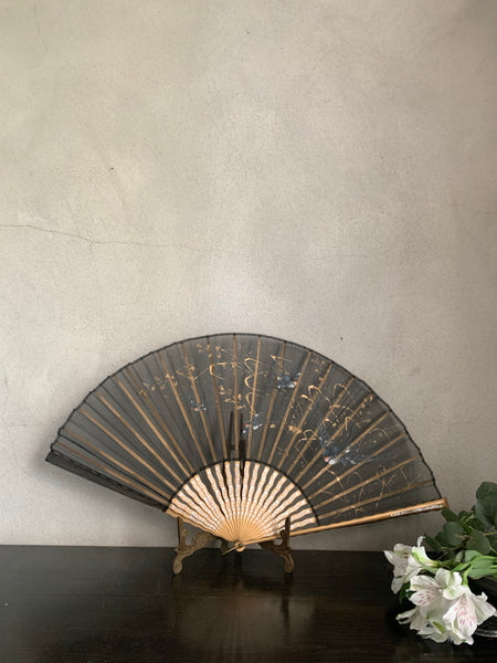 19th Century Hand Painted Silk Fan