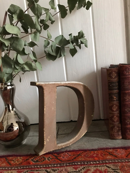 "Rustic Stand-Alone Letter ""D"""