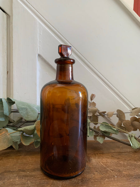 Medium Vintage Laboratory Bottle with stopper