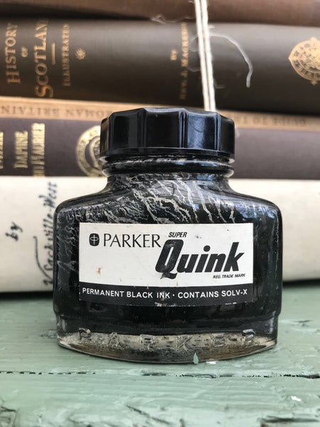 Vintage Ink Bottles - Set of Three
