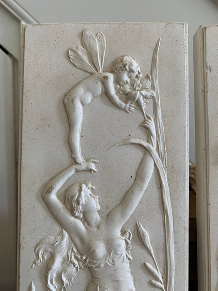 Pair of Vintage Plaster Reliefs