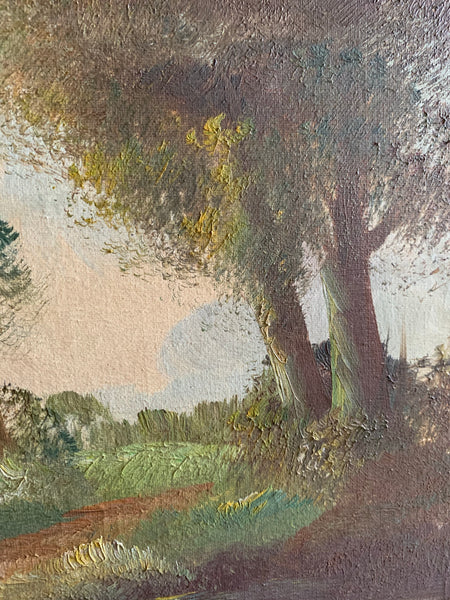 Antique Landscape:  Oil on Canvas