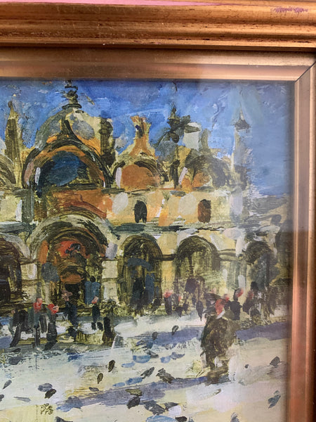 Signed Painting of San Marks Square Venice