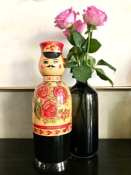 Vintage Russian Matryoshka Doll/Bottle Holder