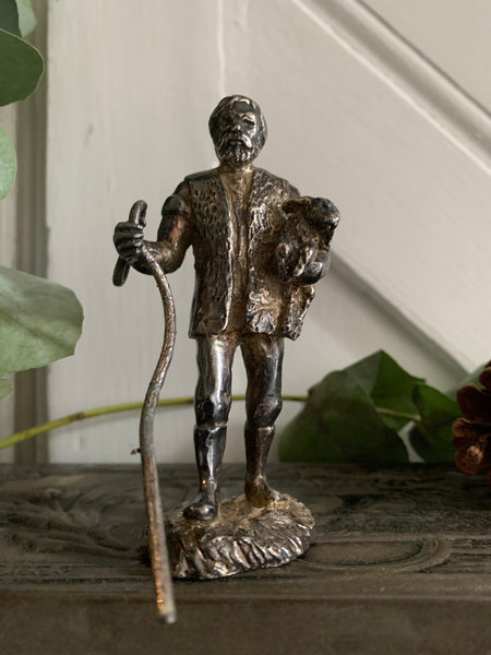 Little English Pewter Figurine - Shepherd