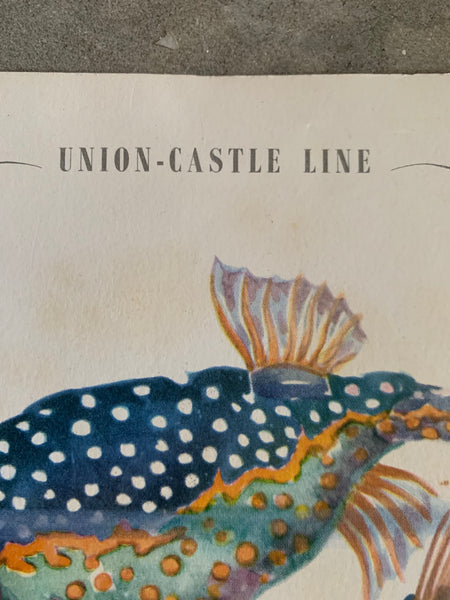 Original Union Castle Music Menu