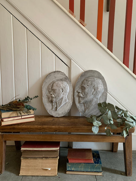 Plaster Mold of King George & Queen Mary