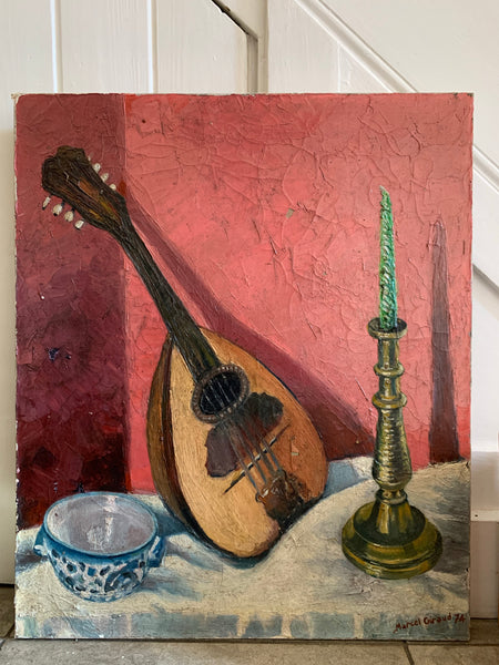 Still Life with a Lute  - Oil on canvas
