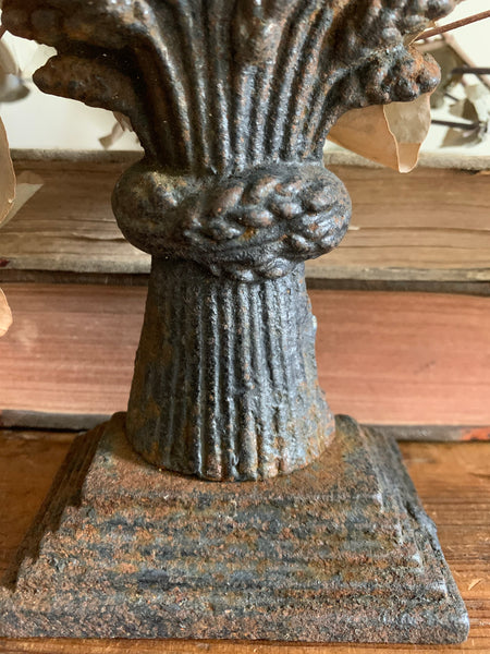 Wheatsheaf Antique  Iron Door Stop