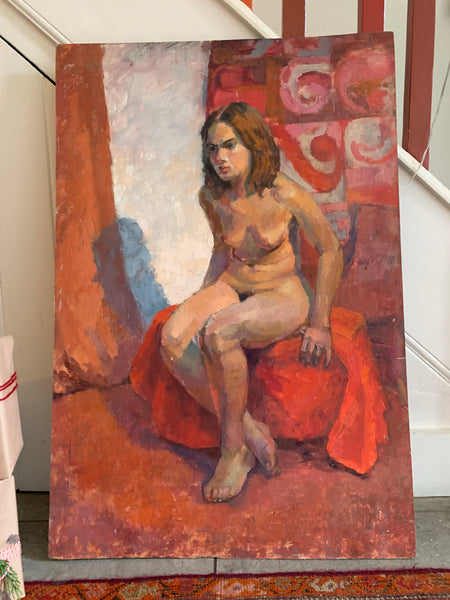 Original Nude - Large Oil on Board