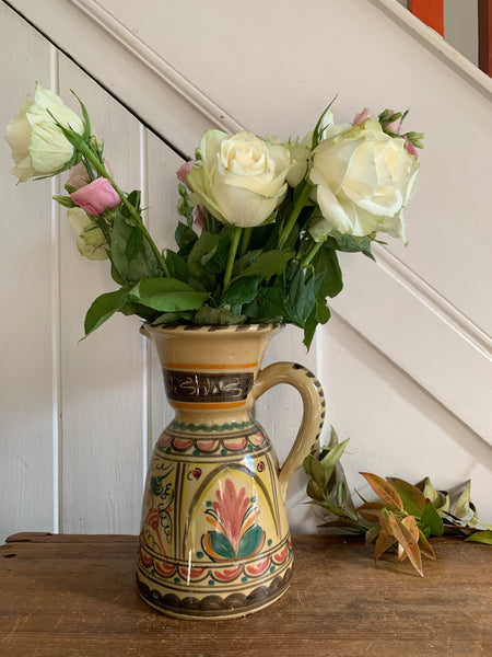 Folk Art Ceramic Vase/Jug